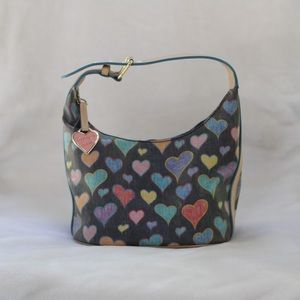 Dooney and Bourke Black Leather Heart Purse